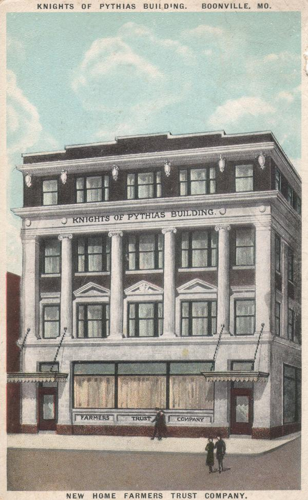 Illustration of the Knights of Pythias lodge building in Boonville, MO