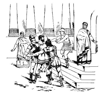 Illustration of Damon and Pythias history